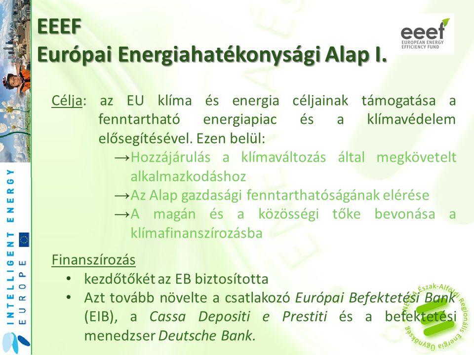 EEEF Európai Energiahatékonysági Alap I.