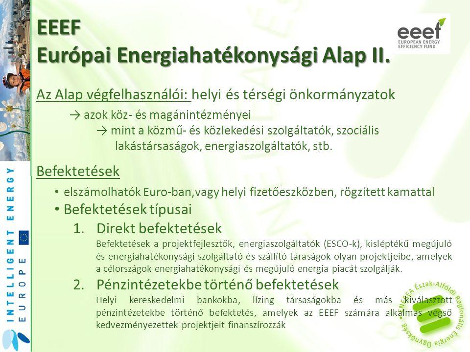 EEEF Európai Energiahatékonysági Alap II.