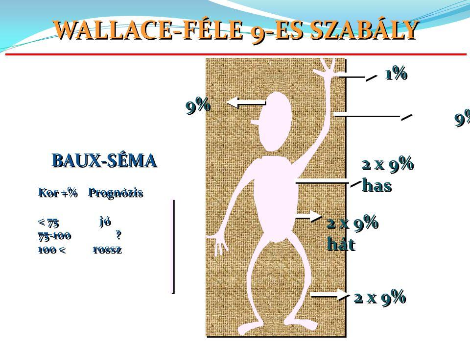 2 x 9% has 2 x 9% has 2 x 9% hát 2 x 9% hát 2 x 9% 9% 1% BAUX-SÉMA Kor +% Prognózis < 75 jó 75-100 .