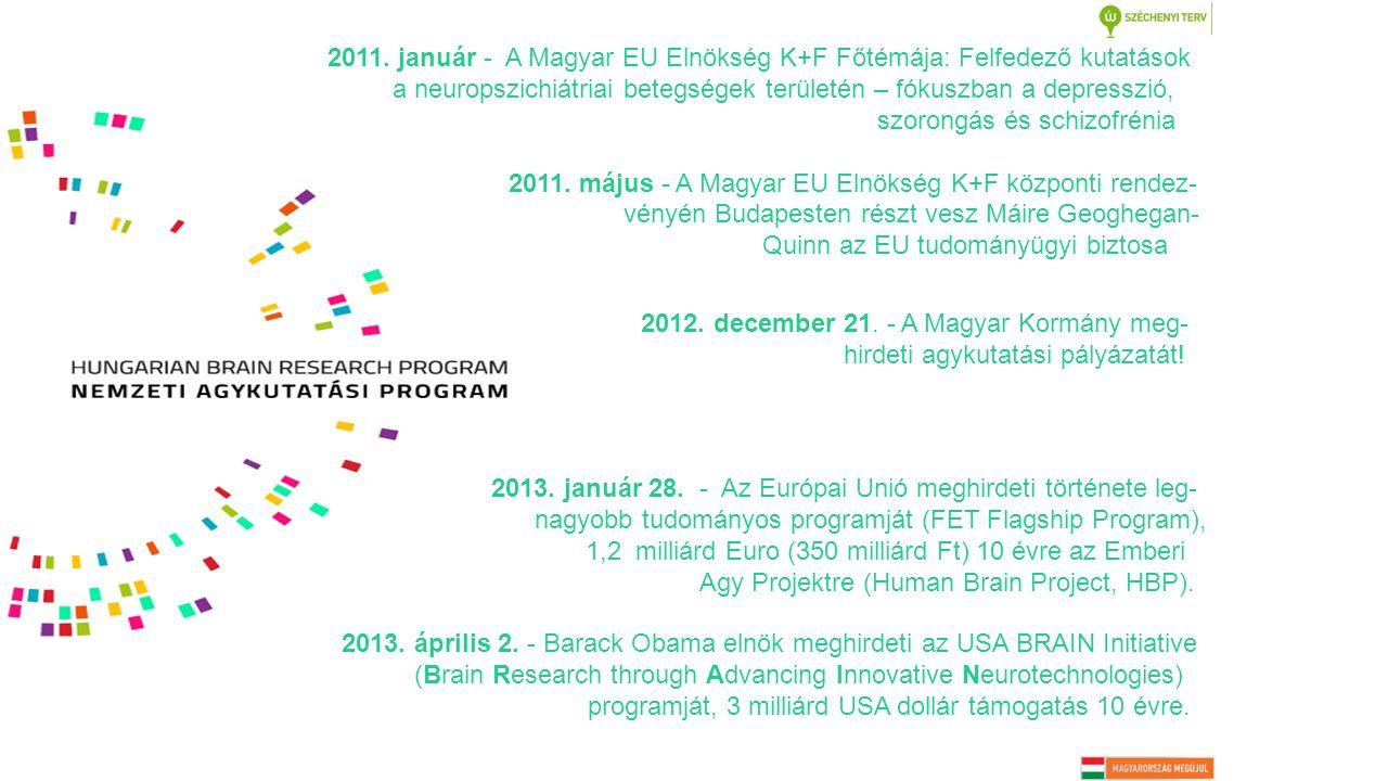 2013. január 28. - Az Európai Unió meghirdeti története leg- nagyobb tudományos programját (FET Flagship Program), 1,2 milliárd Euro (350 milliárd Ft)