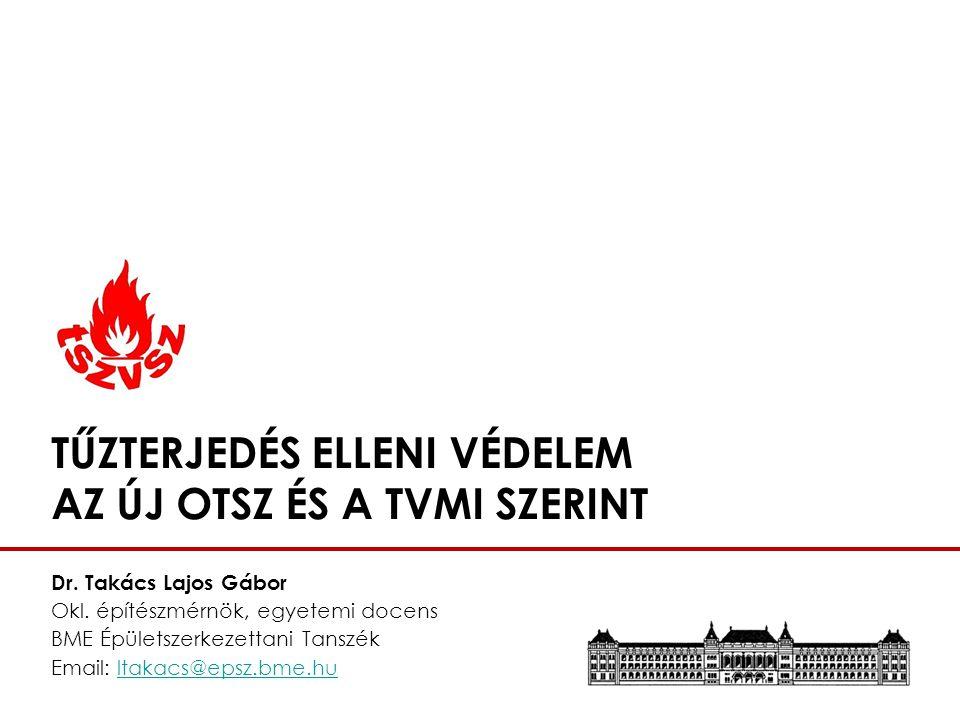 TVMI – TŰZTERJEDÉS ELLENI VÉDELEM MUNKABIZOTTSÁGI TAGOK TSZVSZ konferencia Tűzterjedés elleni védelem az új OTSZ és a TvMI szerintDr.
