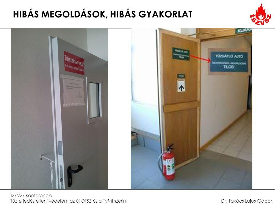 HIBÁS MEGOLDÁSOK, HIBÁS GYAKORLAT TSZVSZ konferencia Tűzterjedés elleni védelem az új OTSZ és a TvMI szerintDr.