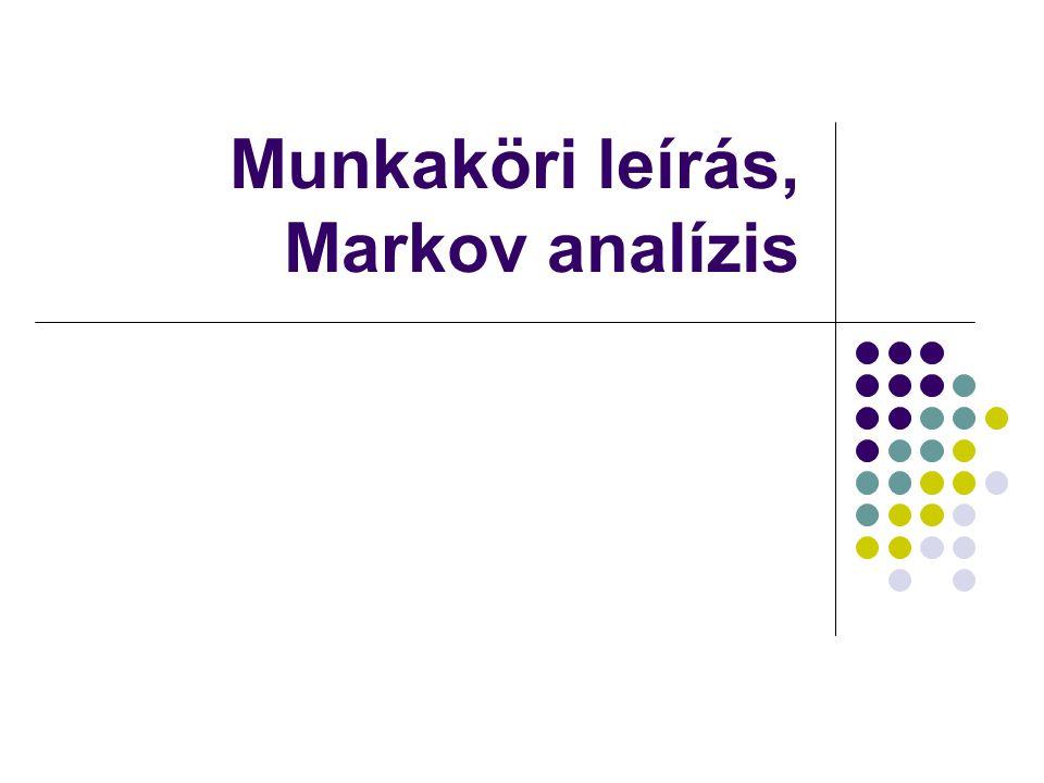 Munkaköri leírás, Markov analízis