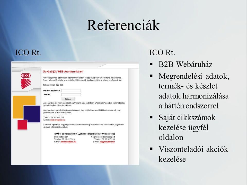 Referenciák ICO Rt.