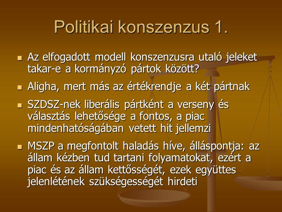 Politikai konszenzus 1.