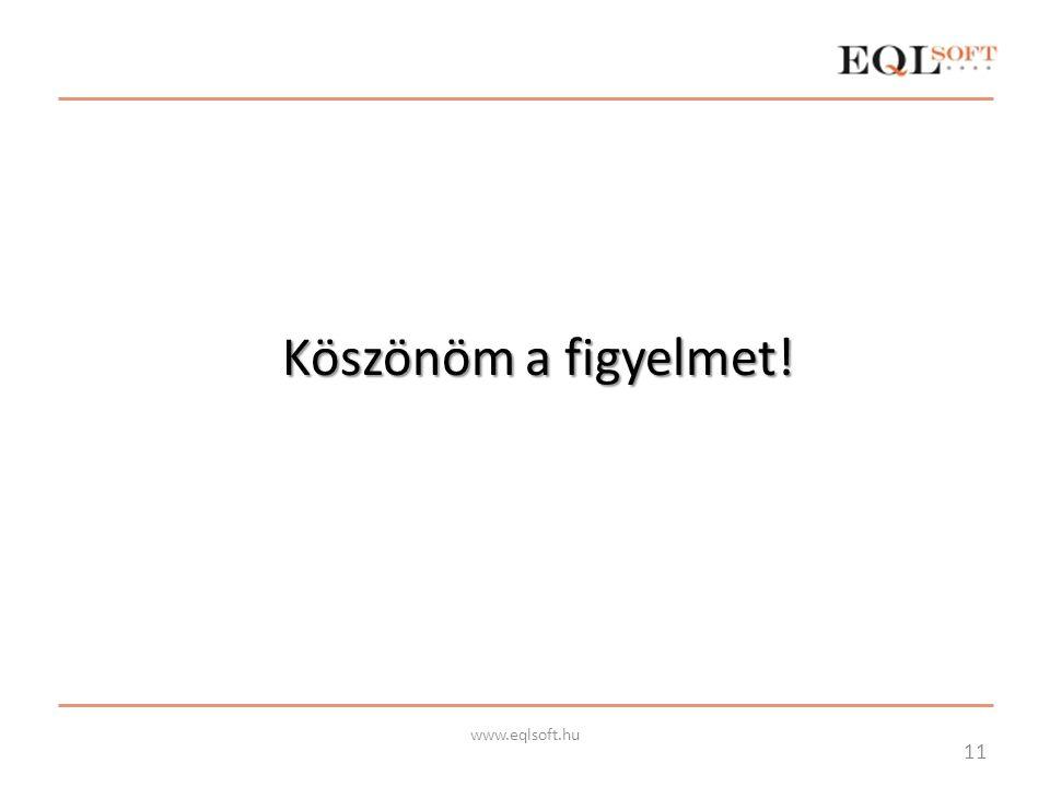 Köszönöm a figyelmet! 11 www.eqlsoft.hu