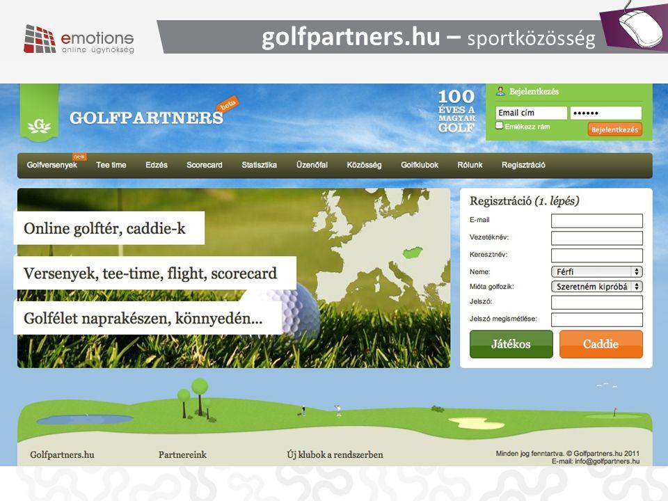 golfpartners.hu – sportközösség
