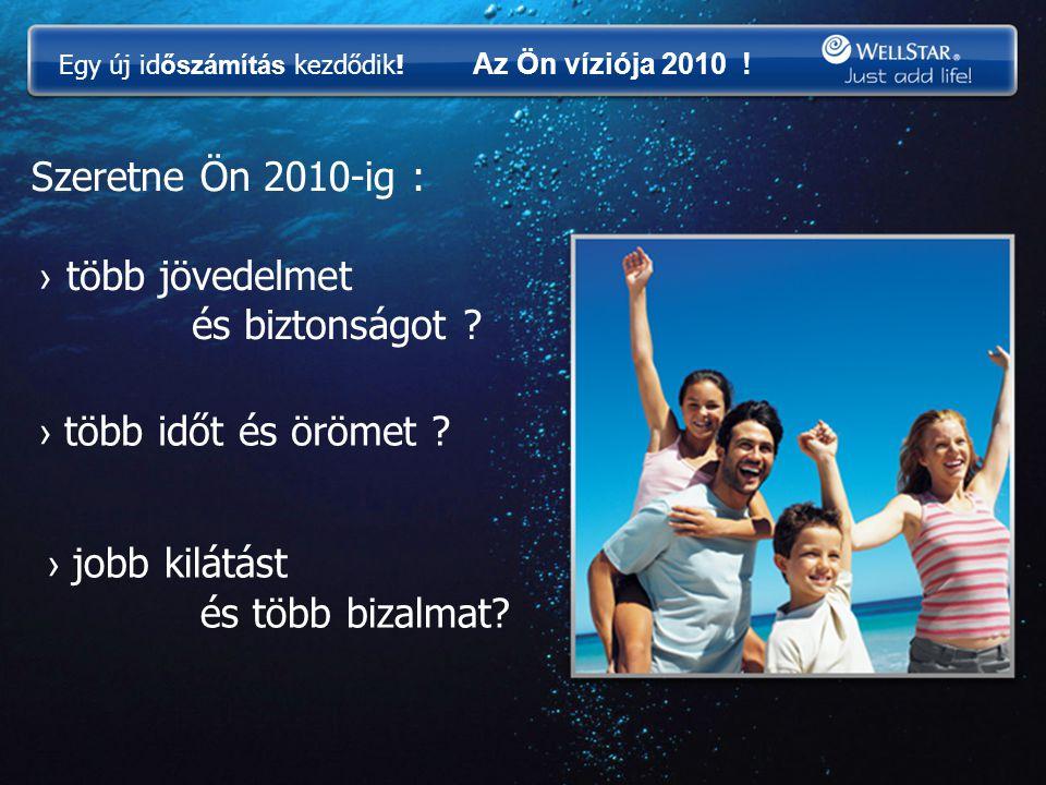 Szeretne Ön 2010-ig : › több jövedelmet és biztonságot ? › több időt és örömet ? › jobb kilátást és több bizalmat? Egy új id őszámítás kezdődik! Az Ön