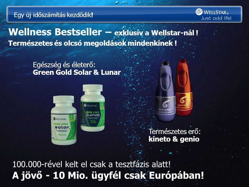 Wellness Bestseller – exklusív a Wellstar-nál ! Természetes és olcsó megoldások mindenkinek ! Egészség és életerő: Green Gold Solar & Lunar Természete