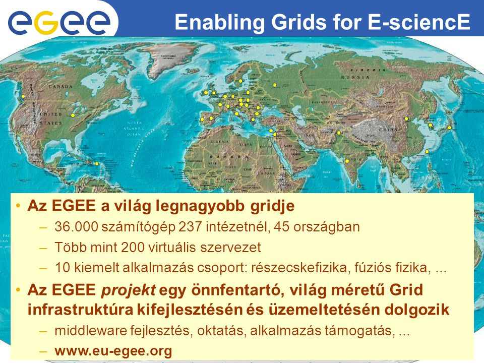 Enabling Grids for E-sciencE EGEE-II INFSO-RI-031688 5 A HunGrid infrastruktúra 2005.