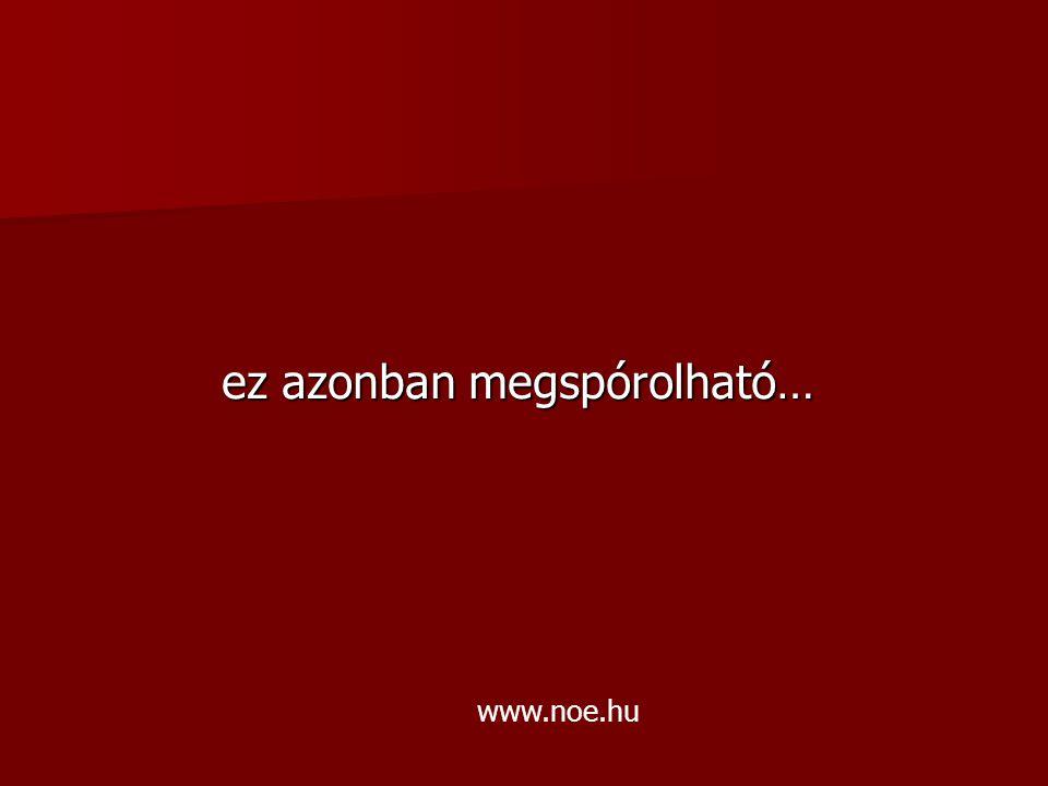 ez azonban megspórolható… www.noe.hu