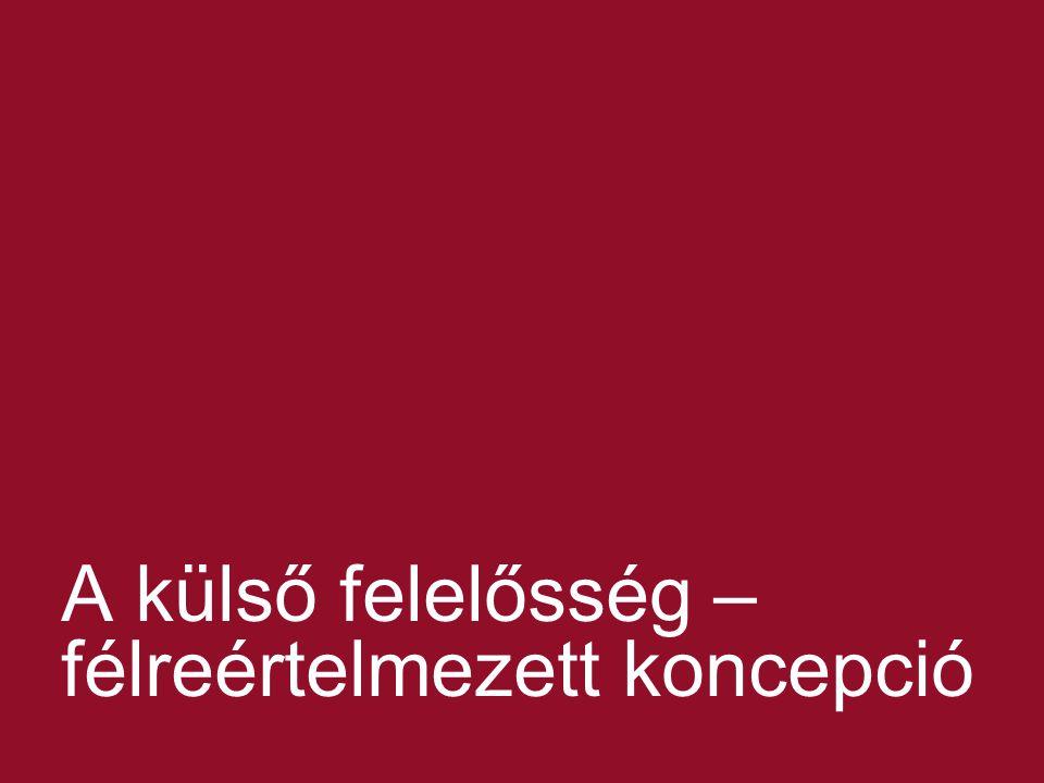 © 2013 Kajtár Takács Hegymegi-Barakonyi Baker & McKenzie Ügyvédi Iroda 8 A külső felelősség – félreértelmezett koncepció