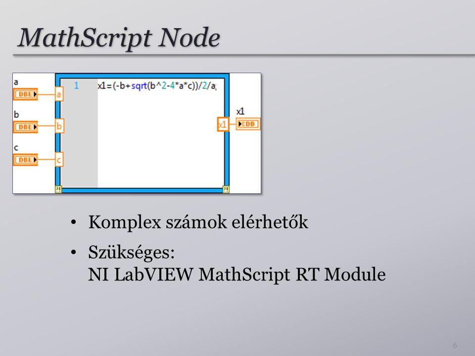 XY Graph Express XY segédVI használata XY grafikonon való megjelenítéshez (általában nem javasolt a használata) 17
