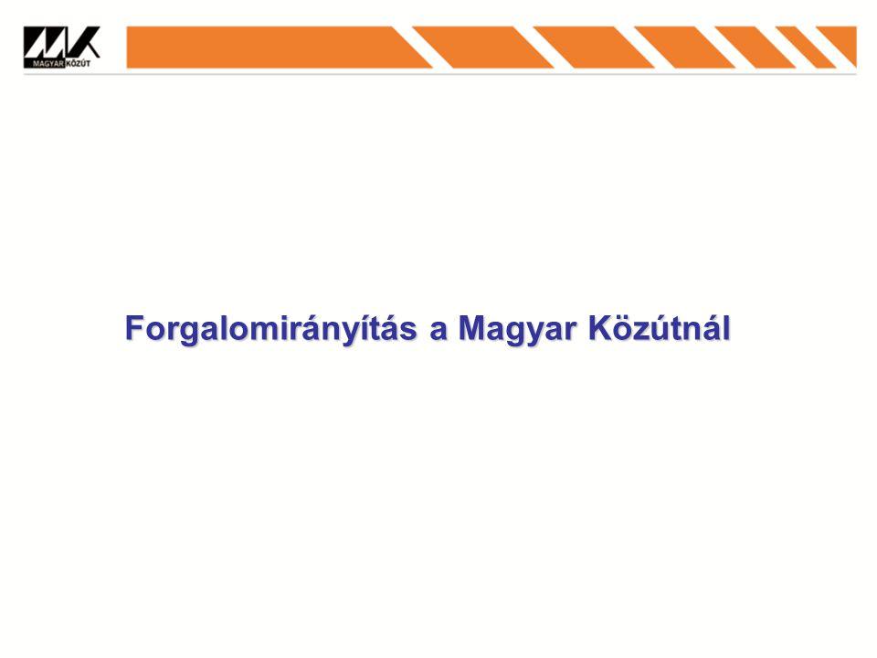 Forgalomirányítás a Magyar Közútnál