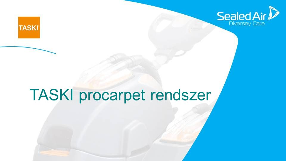 5 TASKI procarpet 30/45 A TASKI procarpet 30/45 olyan extrakciós szőnyegtisztítógép, mely spray-tisztításra is alkalmas.