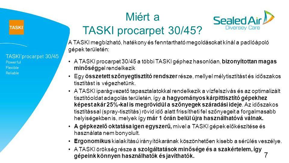 Miért a TASKI procarpet 30/45.