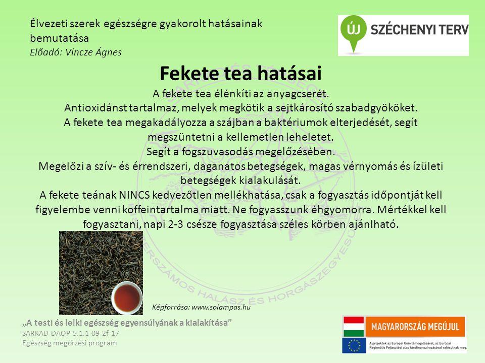 Fekete tea hatásai A fekete tea élénkíti az anyagcserét.