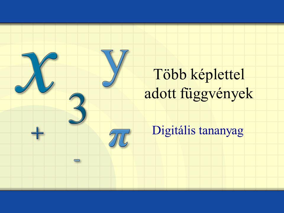 Tóth István – Műszaki Iskola Ada Eddig a függvényeket egyetlen képlettel adtuk meg.