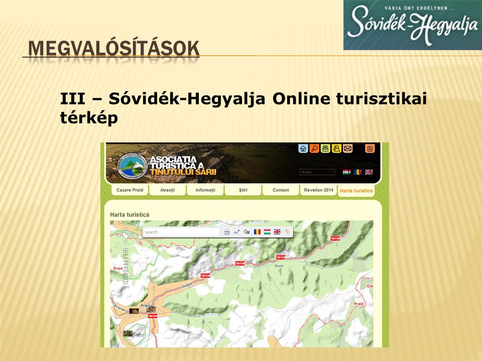 III – Sóvidék-Hegyalja Online turisztikai térkép