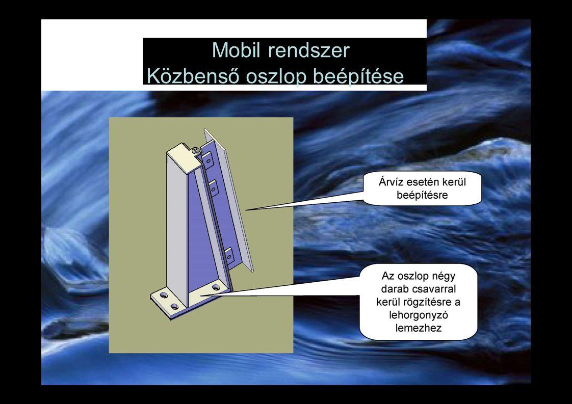 Mobil rendszer Közbenső oszlop beépítése