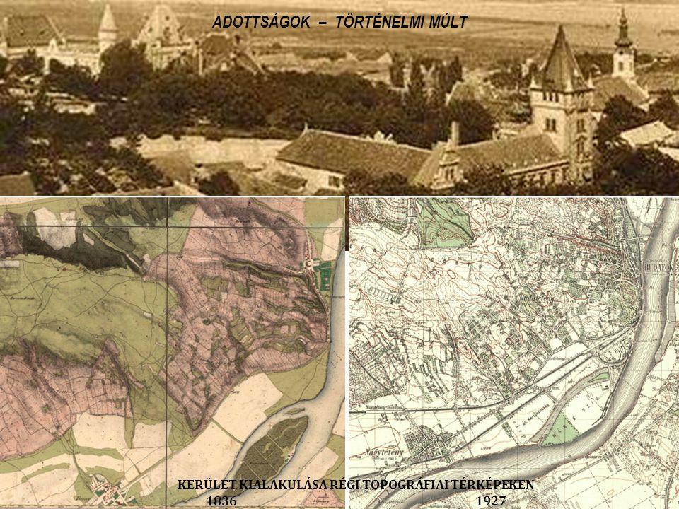 KERÜLET KIALAKULÁSA RÉGI TOPOGRÁFIAI TÉRKÉPEKEN 1836 1927 ADOTTSÁGOK – TÖRTÉNELMI MÚLT
