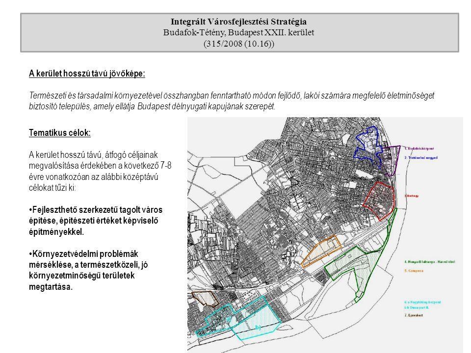 Integrált Városfejlesztési Stratégia Budafok-Tétény, Budapest XXII. kerület (315/2008 (10.16)) A kerület hosszú távú jövőképe: Természeti és társadalm