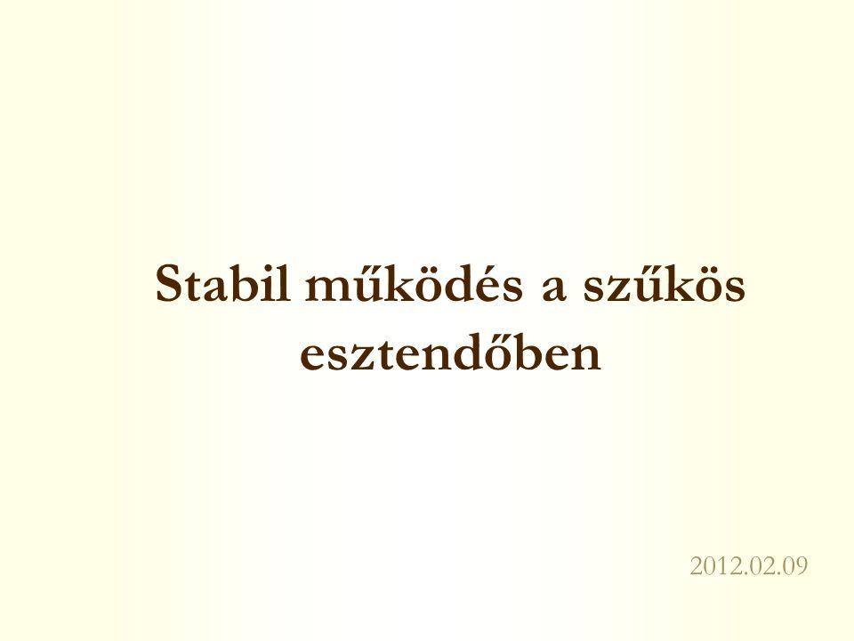 Stabil működés a szűkös esztendőben 2012.02.09