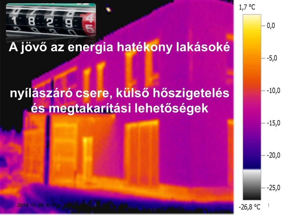 A jövő az energia hatékony lakásoké nyílászáró csere, külső hőszigetelés és megtakarítási lehetőségek 1 2014. 11. 20. 6:19