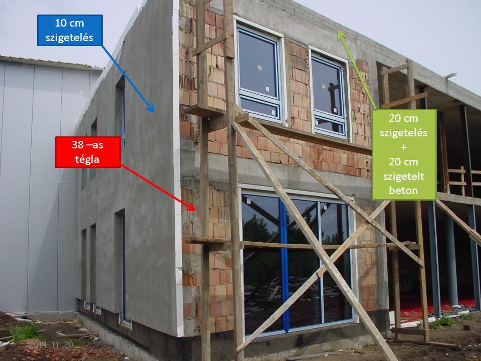 38 –as tégla 10 cm szigetelés 20 cm szigetelés + 20 cm szigetelt beton 2014. 11. 20.