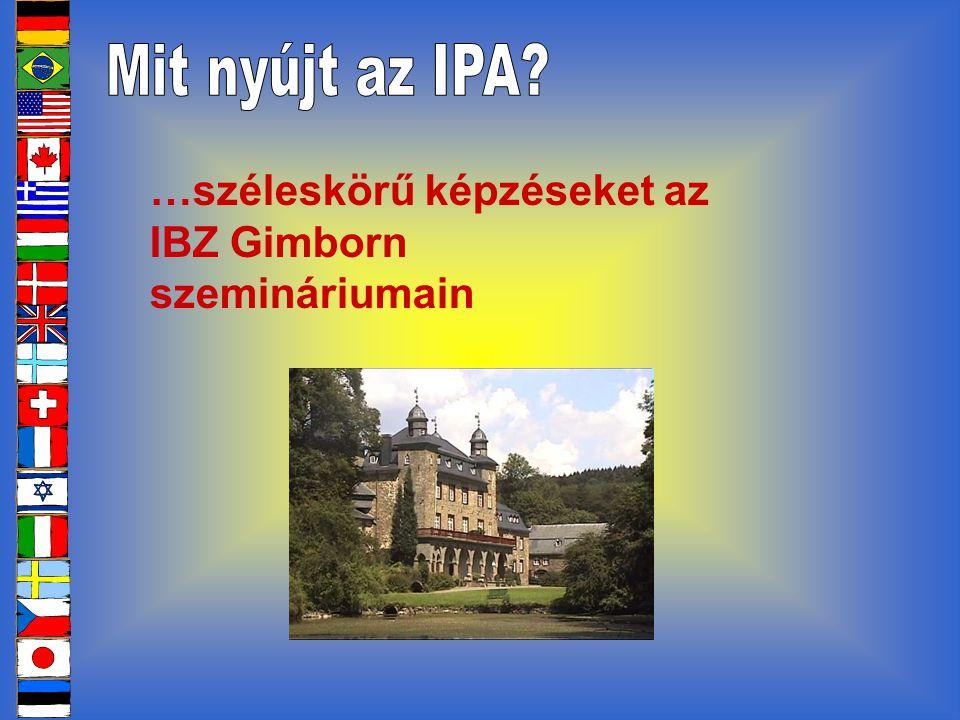 …széleskörű képzéseket az IBZ Gimborn szemináriumain