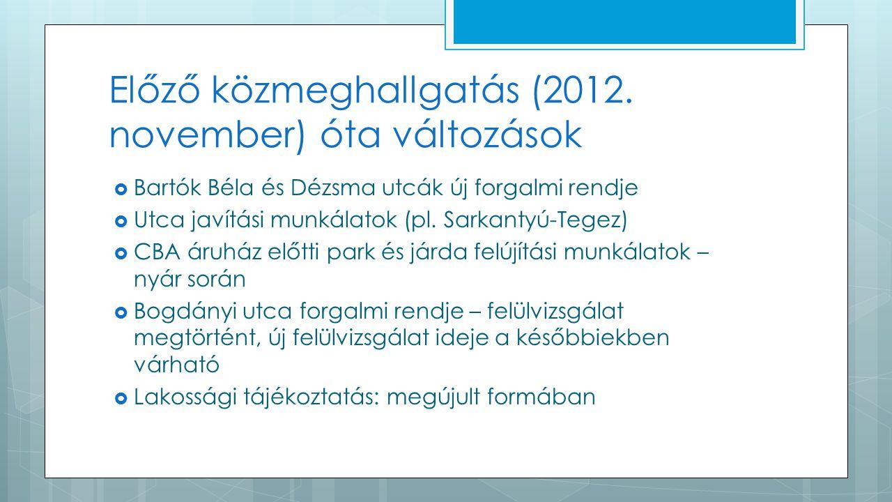 Előző közmeghallgatás (2012.