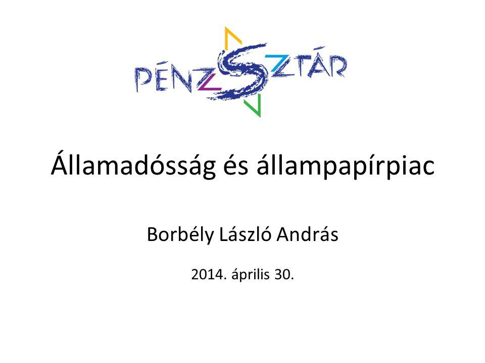 Államadósság és állampapírpiac Borbély László András 2014. április 30.