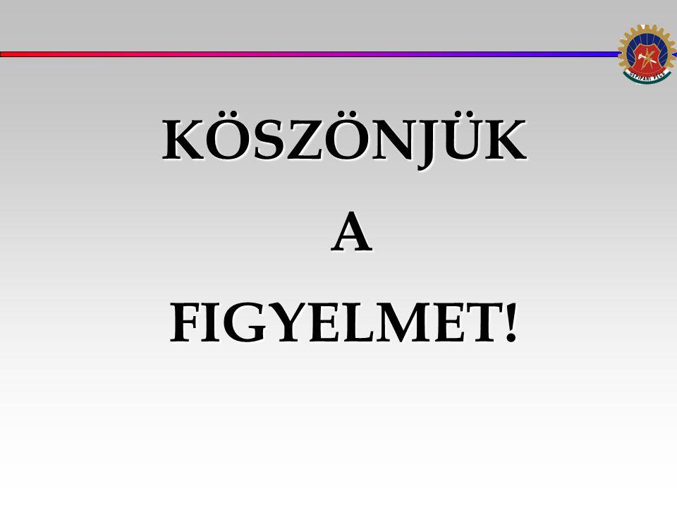 KÖSZÖNJÜK AFIGYELMET!