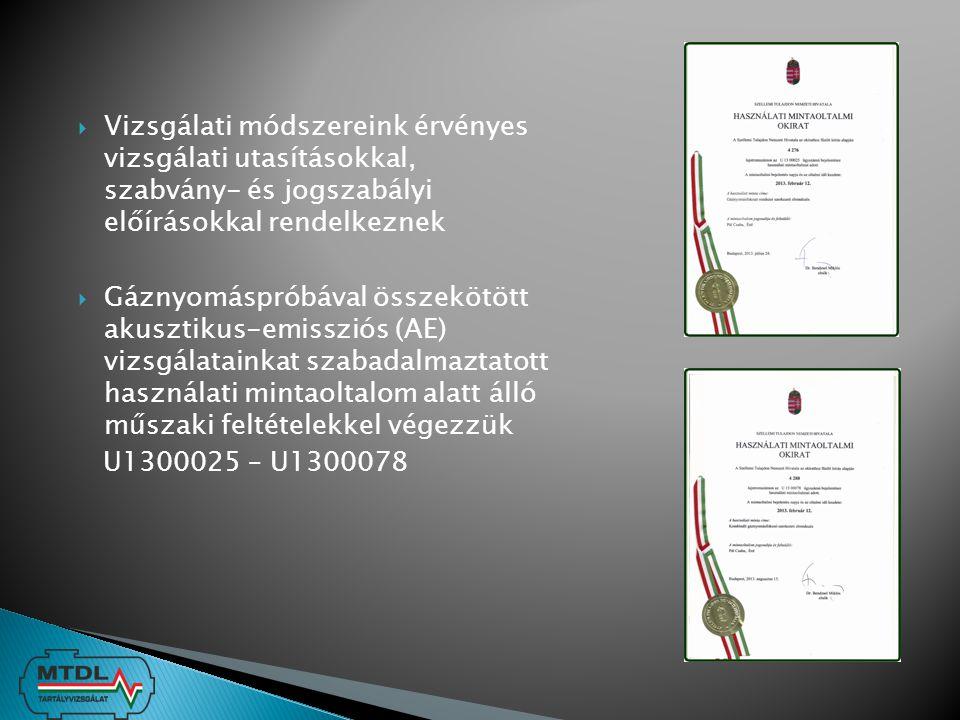  Telepített nyomástartó berendezésekre vonatkozó irányelvek - 97/23 EK irányelv a nyomástartó berendezésekről - 87/404 EGK irányelv az egyszerű nyomástartó edényekről  Magyarországi jogrendben - 9/2001 (IV.5) GKM rendelet a nyomástartó berendezések és rendszerek követelményeiről - 63/2004 (IV.27) GKM rendelet a nyomástartó és töltőlétesítményekről - 23/2006 (II.3) Korm.