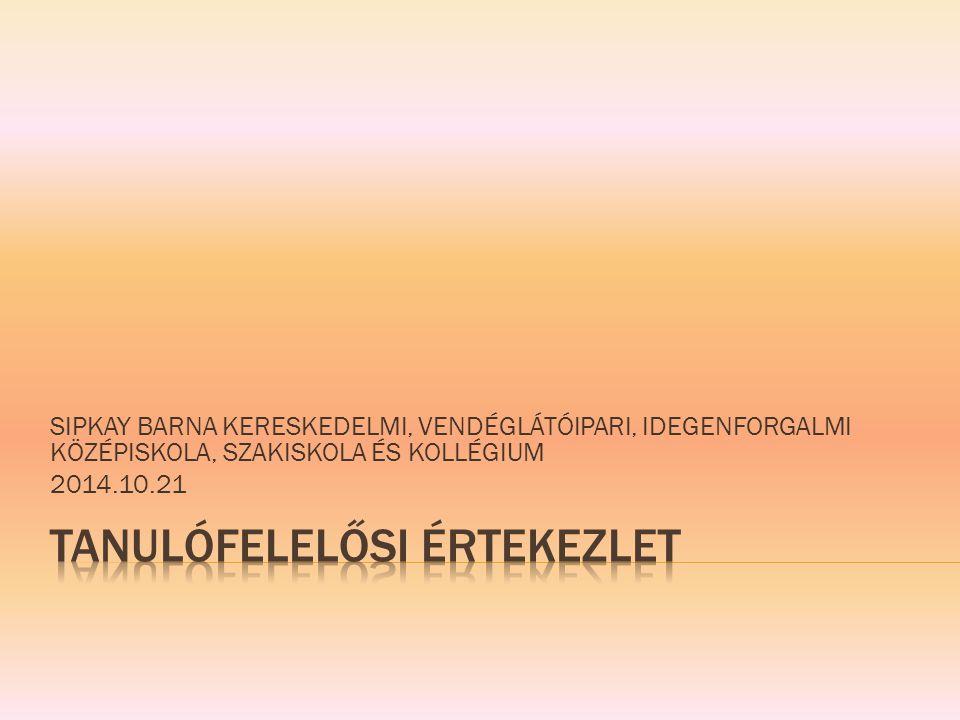 2013/2014.tanév 2+2 képzési forma OKJ : 133/2011.(VII.