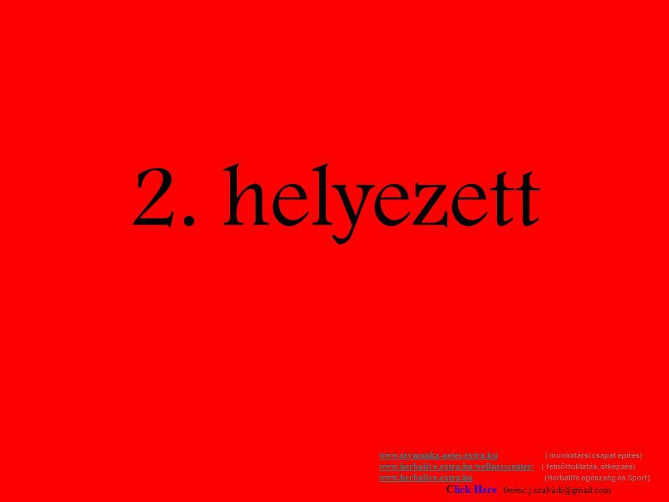 2. helyezett www.tavmunka-netes.extra.huwww.tavmunka-netes.extra.hu ( munkatársi csapat épités) www.herbalive.extra.hu/wellnesscenter/ ( felnőttoktatá