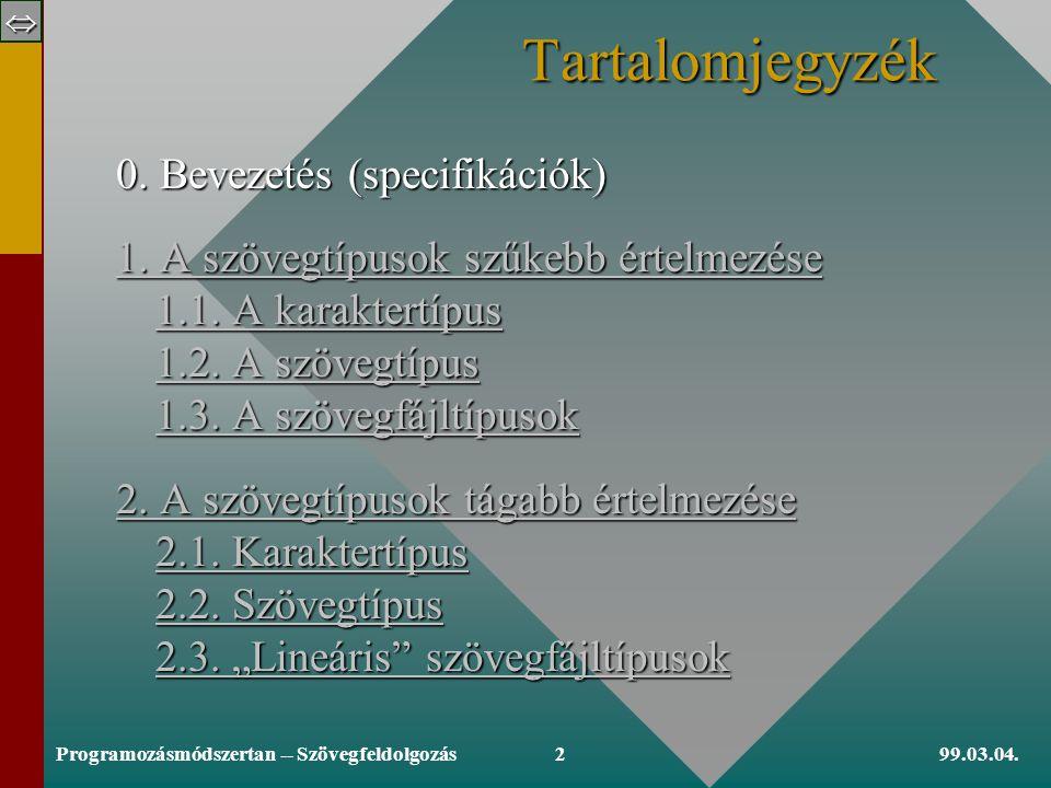 Copyright, 1999 © Szlávi Péter Szövegfeldolgozás 1.