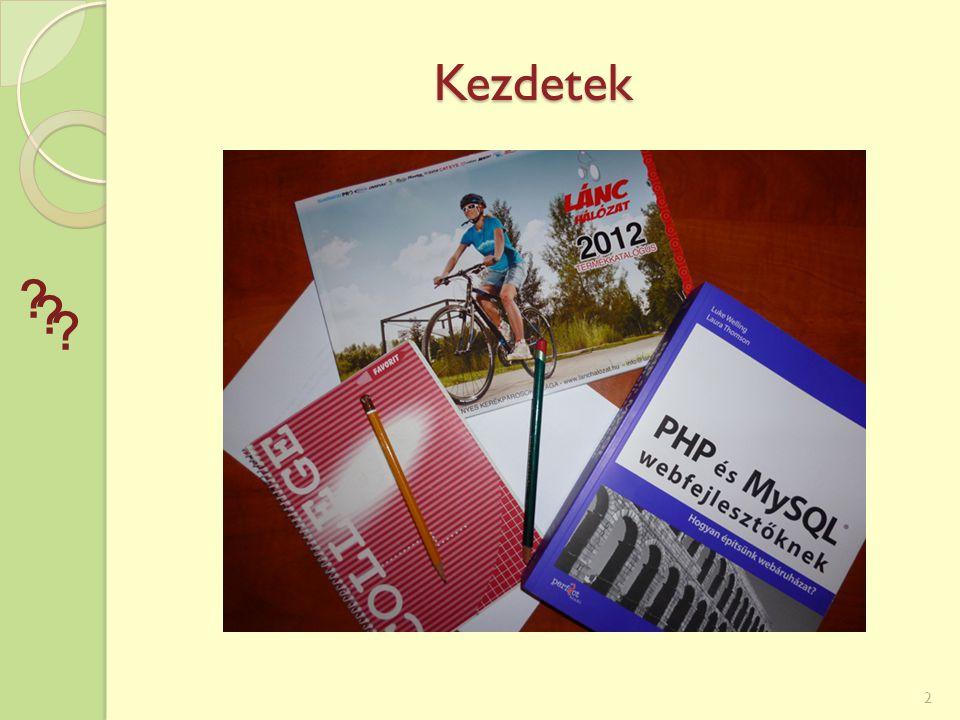 Adminisztrációs rész Táblázatos lekérés 13