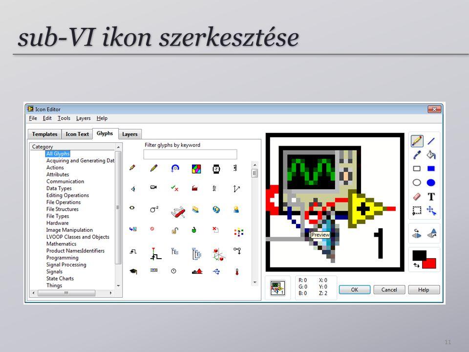 sub-VI ikon szerkesztése 11