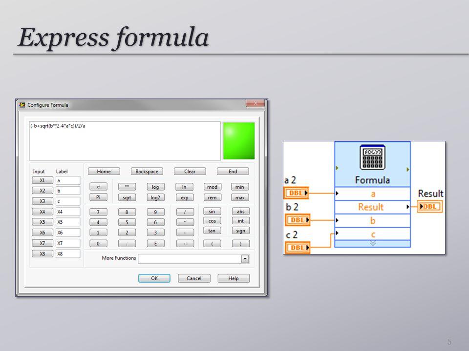 MathScript Node Komplex számok elérhetők Szükséges: NI LabVIEW MathScript RT Module 6