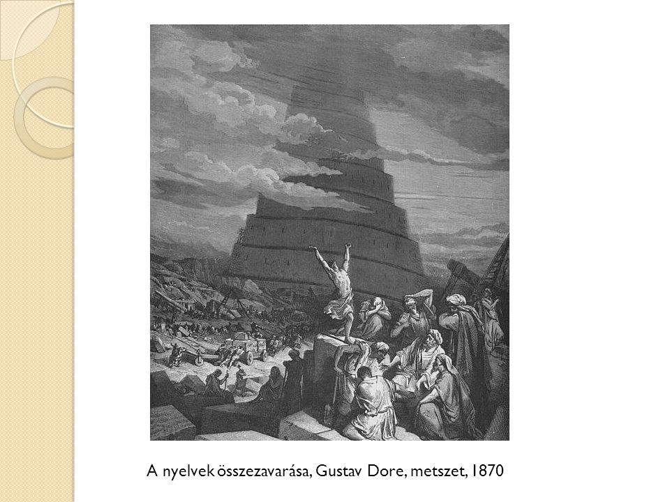 A nyelvek összezavarása, Gustav Dore, metszet, 1870