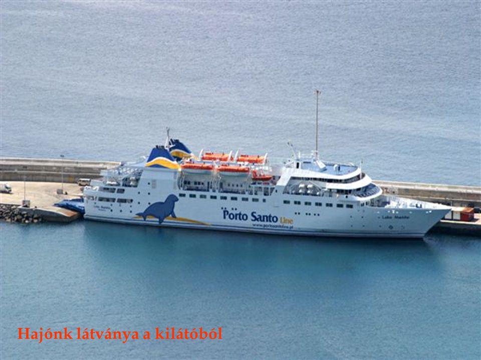 Porto Santo sziget Vila Baleira városa a kilátóból