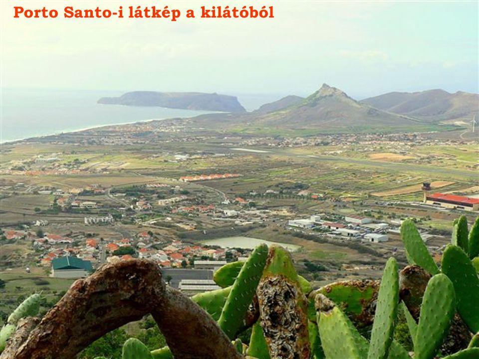 Porto Santo repülőtere a kilátóból