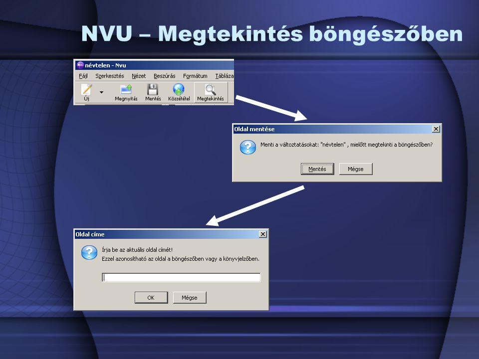 NVU – Megtekintés böngészőben