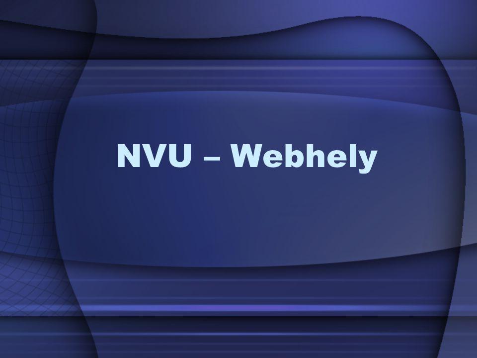 NVU – Webhely