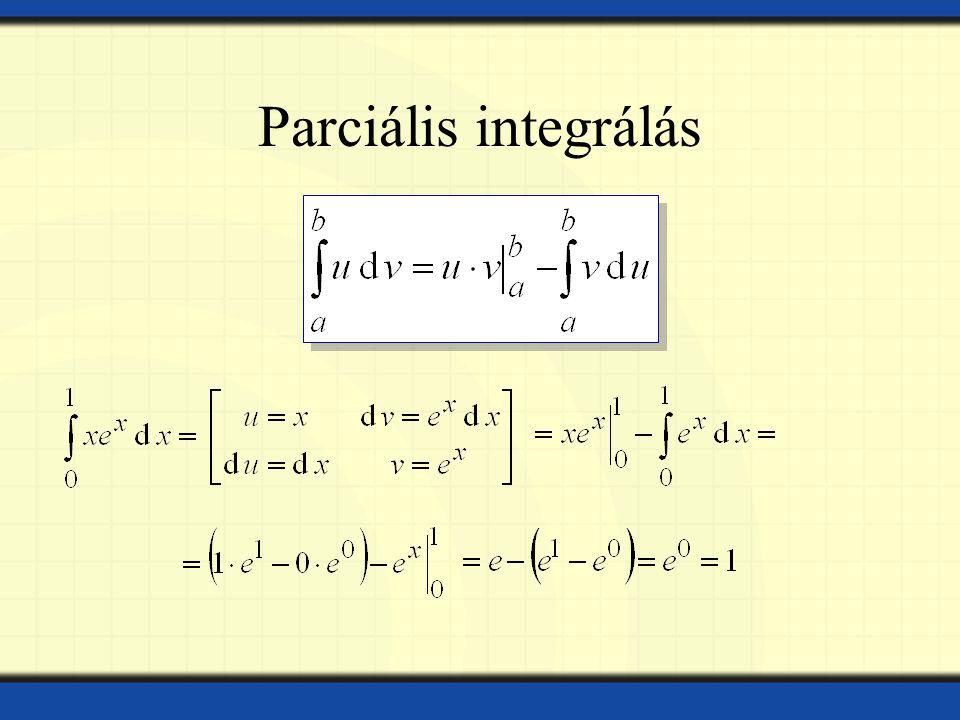 Parciális integrálás