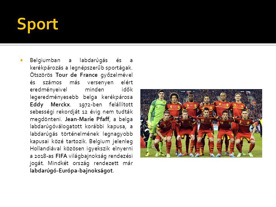  Belgiumban a labdarúgás és a kerékpározás a legnépszerűb sportágak. Ötszörös Tour de France győzelmével és számos más versenyen elért eredményeivel