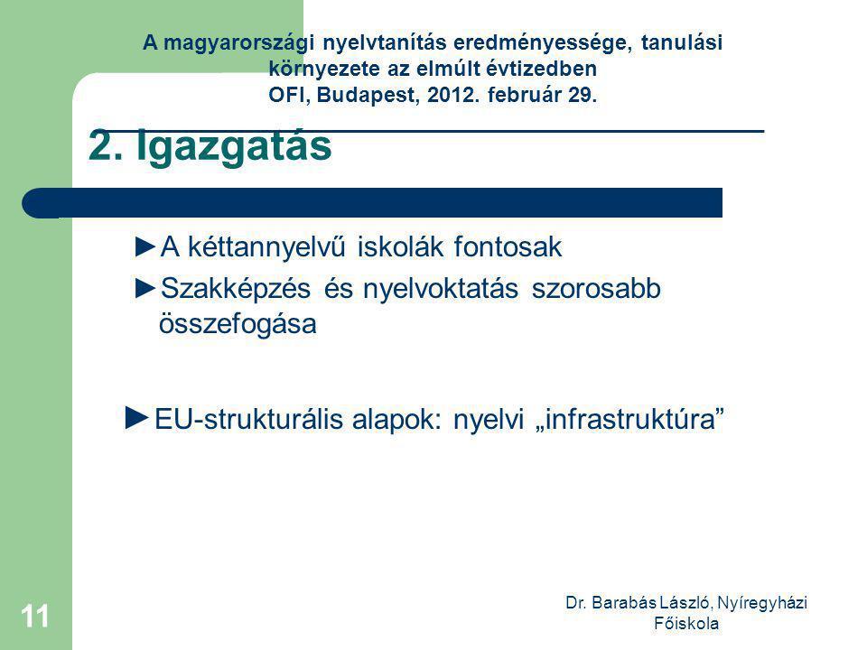 Dr. Barabás László, Nyíregyházi Főiskola 11 2.