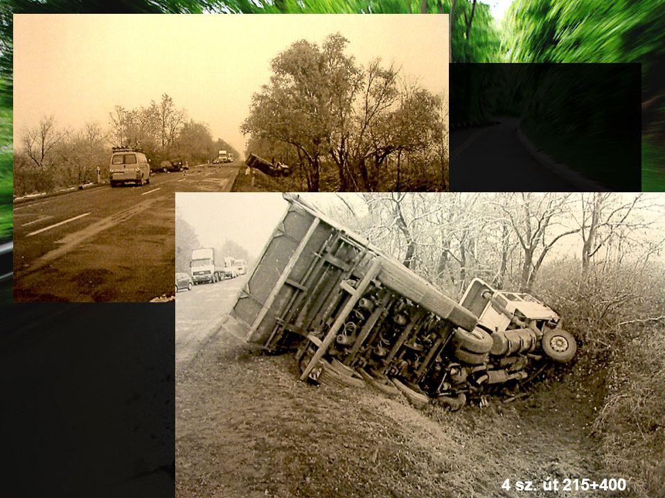 23 baleset bekövetkezését befolyásolta az infrastruktúra állapota 18 esetben a védőkorlát hiánya vagy nem megfelelő elhelyezése volt a befolyásoló tényező