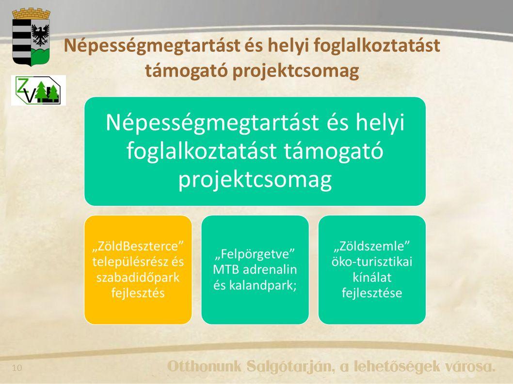 10 Népességmegtartást és helyi foglalkoztatást támogató projektcsomag
